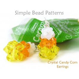 Halloween Candy Corn DIY Earrings Jewelry Making Beading Pattern