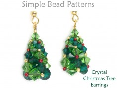Beaded Christmas Tree Earrings Holiday DIY Beading CRAW Tutorial