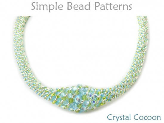 Russian Spiral Stitch DIY Beaded Necklace Jewelry Making Tutorial Custom Beaded Necklace Patterns