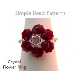 Beaded Crystal Flower Ring DIY Jewelry Making Beading Tutorial