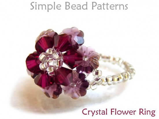 Beaded Crystal Flower Ring Diy Jewelry Making Beading Tutorial