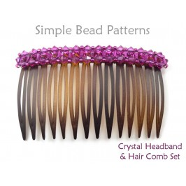 Easy DIY Beaded Crystal Headband Side Hair Comb Pattern for Beginners