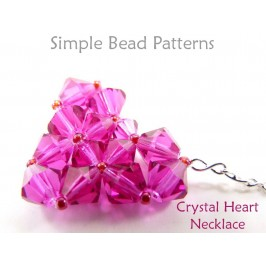 Beaded Crystal Heart Pendant Chain Necklace Valentine's Day Tutorial