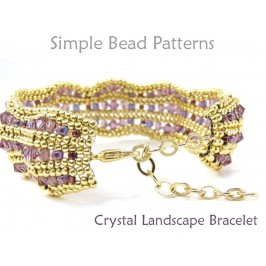 Beaded Herringbone Stitch Crystal Bracelet DIY Jewelry Making Tutorial