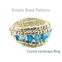 Beaded Herringbone Stitch DIY Crystal Ring Jewelry Making Tutorial