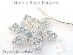 Beaded Crystal Snowflake Pendant Necklace DIY Jewelry Making Tutorial