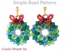 Crystal Christmas Wreath DIY Earrings Necklace Holiday Beading Pattern