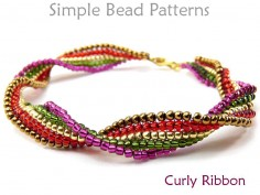 Beaded Ladder Stitch DIY Bracelet Jewelry Making Beading Pattern