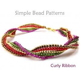 Beaded Ladder Stitch DIY Bracelet Jewelry Making Beading Pattern
