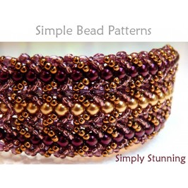 Flat Spiral Stitch Bracelet DIY Beading Pattern Jewelry Making Tutorial