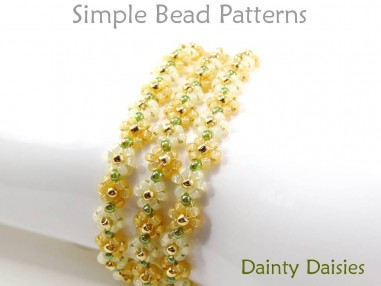 Beaded Daisy Chain Stitch DIY Bracelet Jewelry Making Tutorial