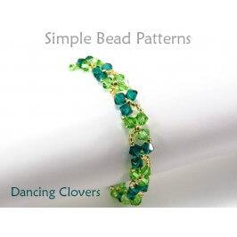 Beaded Crystal Clover St. Patrick's Day Bracelet Necklace Tutorial