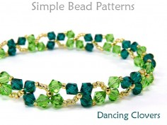 Beaded Crystal Clover St. Patrick's Day Bracelet Necklace Tutorial