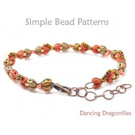 Beaded Dragonfly Bracelet SuperDuo 2-Hole Beads Jewelry Making Pattern
