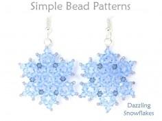 DIY Beaded Crystal Snowflake Necklace Earrings Winter Jewelry Tutorial