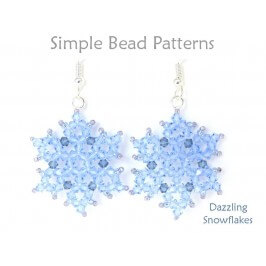DIY Beaded Crystal Snowflake Necklace Earrings Winter Jewelry Tutorial