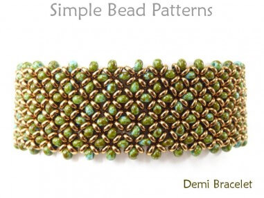 Right Angle Weave Stitch DIY Beaded Bracelet Jewelry Making Tutorial