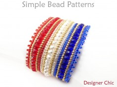 DIY Beaded Herringbone Stitch Bracelet Jewelry Making Beading Tutorial