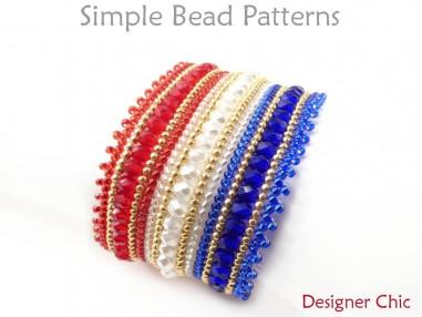 DIY Beaded Herringbone Stitch Bracelet Jewelry Making Beading Tutorial