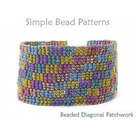 3-Drop Peyote Stitch Beaded Bracelet Jewelry Making Beading Pattern