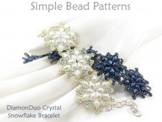 DIY Crystal Snowflake Bracelet with DiamonDuo Beads Beading Tutorial