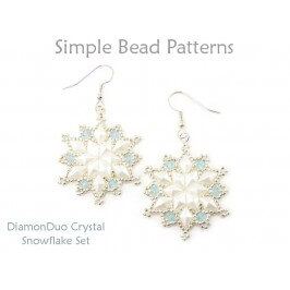DiamonDuo Crystal Snowflake Earrings Necklace Jewelry Making Pattern