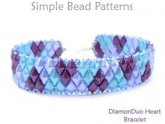Make a Beaded Bracelet for Valentine's Day with 2-Hole DiamonDuo Beads