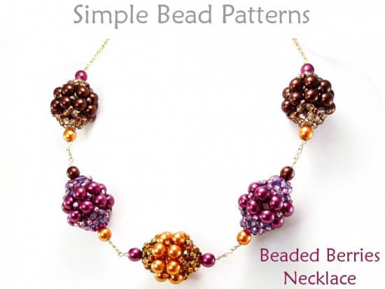 DIY Beaded Necklace With Beaded Beads Jewelry Making Beading Pattern Extraordinary Bead Necklace Patterns
