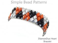 Make a Beaded Bracelet for Valentine's Day with 2-Hole DiamonDuo Beads