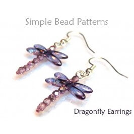 Dragonfly DIY Beaded Earrings Easy Beading Pattern for Beginners