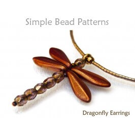 Dragonfly DIY Beaded Necklace Easy Beading Pattern for Beginners
