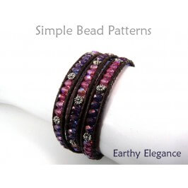 Beaded Leather Wrap Bracelet Tutorial by Simple Bead Patterns
