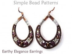 Leather Earrings Pattern Wire Wrapped Beaded Earrings Tutorial