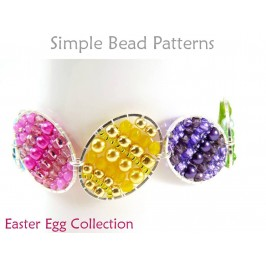 Beaded Easter Eggs Instructions Brick Stitch Pattern DIY Tutorial