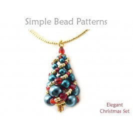 Beaded Christmas Tree Earrings Necklace Russian Spiral Stitch Tutorial