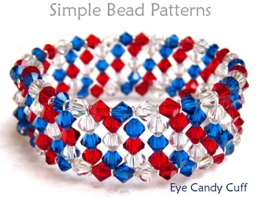 Free Bracelet Beading Pattern with Crystals and Memory Wire