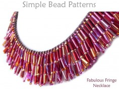 Beaded Fringe Necklace Tutorial Bugle Beads Jewelry Making Pattern