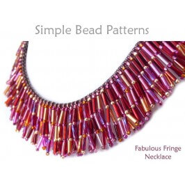 Beaded Fringe Necklace Tutorial Bugle Beads Jewelry Making Pattern