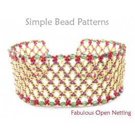 Netted Stitch Bracelet Instructions Jewelry Making Beading Tutorial