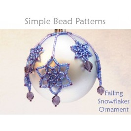 Learn How to Make a Beaded Snowflake Ornament Beading Tutorial
