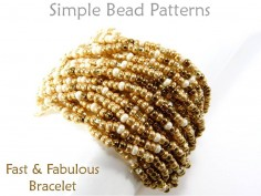 Learn How to Make a Multi Strand Bracelet Easy Beading Pattern