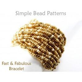 Learn How to Make a Multi Strand Bracelet Easy Beading Pattern