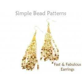 Learn How to Make Seed Bead Fringe Earrings Jewelry Making Tutorial