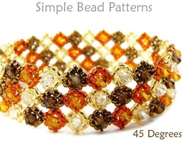 Right Angle Weave RAW Beaded Crystal Bracelet Beading Pattern
