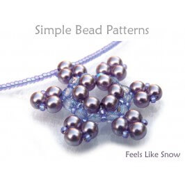 Beaded Snowflake Pattern Necklace Beading Tutorial