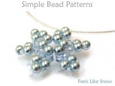 Beaded Snowflake Pattern Necklace Beading Tutorial
