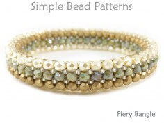 Beaded Bangle Bracelet Herringbone Stitch Bracelet Pattern