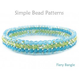 Beaded Bangle Bracelet Herringbone Stitch Bracelet Pattern