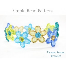 Beaded Flowers Bracelet Jewelry Making Beading Pattern