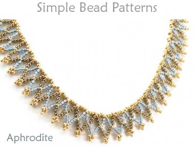 Easy Netted Stitch Necklace Beading Pattern by Simple Bead Patterns